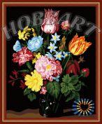 "Картина по номерам ""Букет разноцветий"" 40х50"
