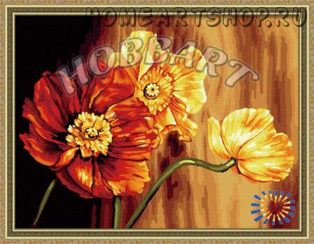 """Картина по номерам """"Знойные цветы"""""""