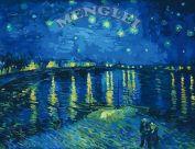 """Картина по номерам """"Звездная ночь над Роной. В. Ван Гог"""""""