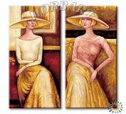 """Картина по номерам """"Дамы в шляпах"""""""