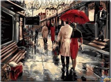 """Раскраска по номерам """"Настроение дождя"""""""