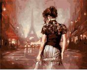 """Раскраска по номерам """"Парижским вечером"""""""