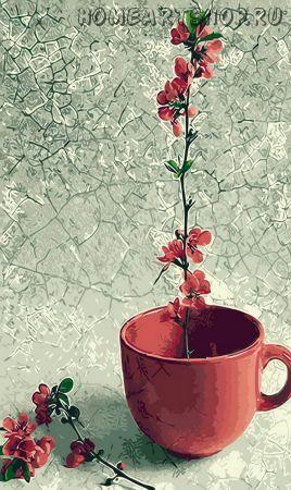 """Раскраска по номерам """"Цветок в чаше"""""""