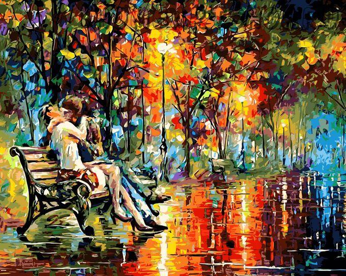 Картинки по номерам осенний поцелуй