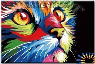 """Картина по номерам """"Ваю Ромдони. Радужный кот"""""""