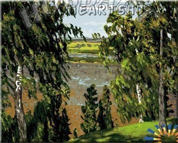 "Картина по номерам ""Рылов А.А. Зелёный шум"""