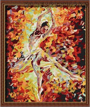 Картина по номерам балерина 30х40