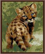 "Картина по номерам ""Детеныш леопарда"" 30х40"