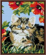 "Картина по номерам ""Котенок в цветах"""