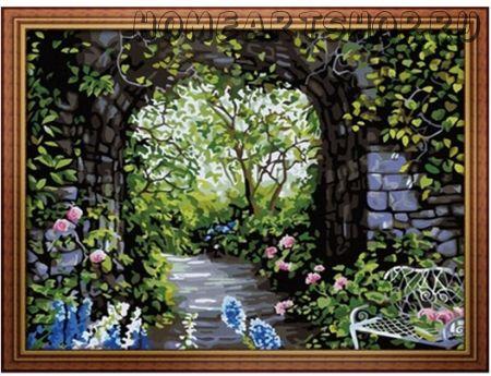 "Картина по номерам ""Арка в саду"""