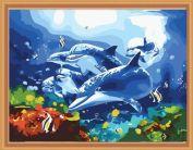 "Картина по номерам ""Танцуя под водой"" 40х50"