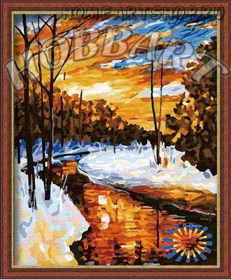 """Картина по номерам """"Зимний ручей"""" 40х50"""