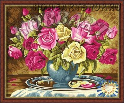"""Картина по номерам """"Пышно-розовый букет"""""""
