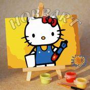 "Картина по номерам ""Hello Kitty. Хелло Китти. Учусь писать"""