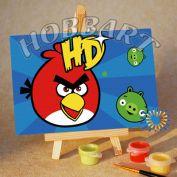 """Картина по номерам """"Angry Birds. Red bird. Берегись!"""""""