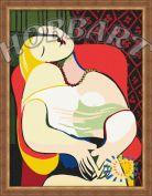 """Картина по номерам """"Pablo Picasso. Le Reve. ПаблоПикассо. Мечта"""""""