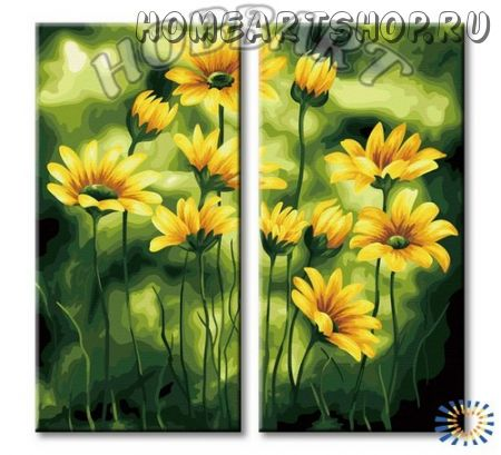 "Картина по номерам ""Поле цветов"""