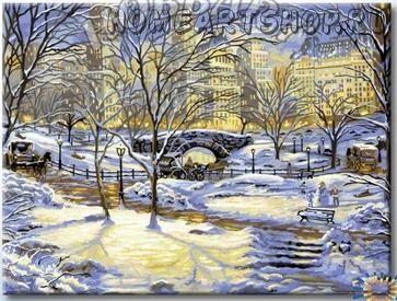 """Раскраска по номерам """"Зима в городе"""""""