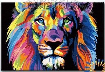 """Раскраска по номерам """"Радужный лев. Ваю Ромдони"""""""