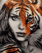 "Раскраска по номерам ""Тигрица"""