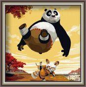 "Картина по номерам ""Кунг-фу панда"" 30х30"