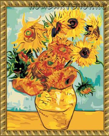 "Раскраска по номерам ""Подсолнухи,Ван Гог"" 40х50"